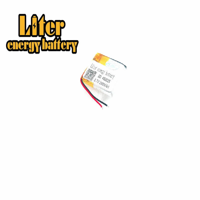 3.7V lithium Li ion polymer rechargeable battery <font><b>402525</b></font> 382525 352525 200MAH Bluetooth headset speakers steelmate small toys image