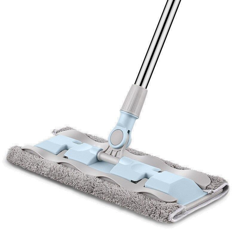 Esfregão liso da limpeza do assoalho do espanador para a poeira da cubeta swob magia & fácil & microfibra vassoura que gira cotonetes superfine da fibra