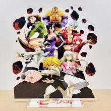 De los siete pecados mortales figura acrílica con soporte Meliodas decoración de escritorio juguete de modelo de colección de regalos
