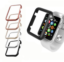 Aluminum Metal Alloy Case For Apple Watch band 4 (iwatch 5) 44mm 40mm applewatch strap 3 2 1 42mm 38mm Protector Cover Frame(China)