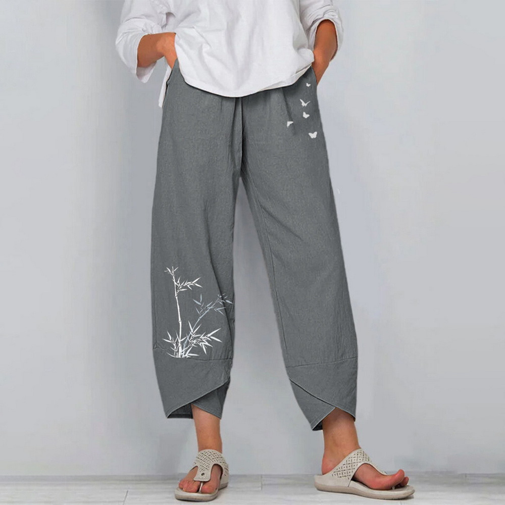 Women Casual Daisy Print Pants  1