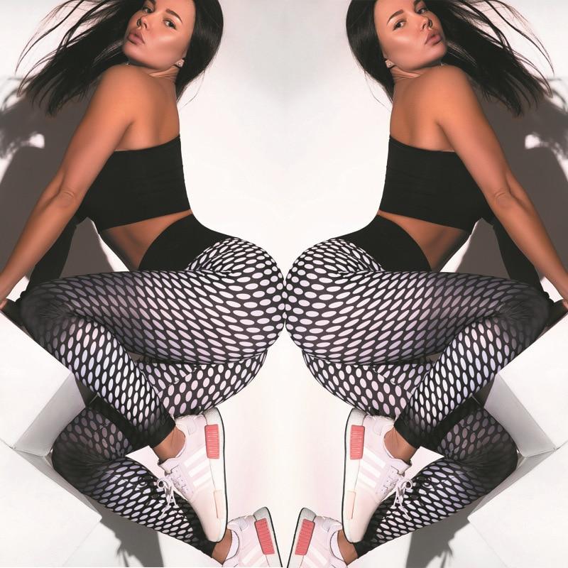 QNPQYX New Gym Fitness Printing Run Leggings Women Pants 2020 Sports Workout Trousers Female Elastic High Waist Push Up Legging