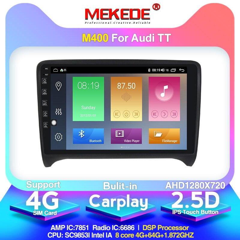 DSP IPS 4G 64G Android 10 2 DIN Auto DVD GPS Für Audi TT MK2 8J 2006 2007 2008 2009 2010 2011 2012 multimedia player radio 4G lte