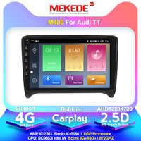 DSP IPS 4G 64G Android 10 2 DIN Car DVD GPS para Audi TT MK2 8J 2006, 2007, 2008, 2009, 2010, 2011, 2012 reproductor multimedia radio 4G lte
