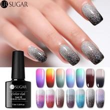Ur Sugar Радужный термо меняющий Цвет Гель-лак для ногтей голографический лак для ногтей с блеском температура замачивается УФ-Гель-лак 7,5 мл дизайн ногтей