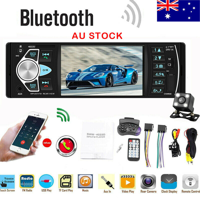 New 4022D Car Stereo Radio Player 1 Din Autoradio Bluetooth 4.1 Auto Radio Support Rear View Camera Steering wheel control image