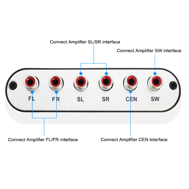 10 PCS Digital AC3 Optical To Stereo Surround Analog HD 5.1 Audio Decoder 2 SPDIF Ports HD Audio Rush For HD Players/DVD/XBOX360