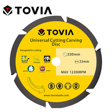 цена на TOVIA 230mm Circular Saw Blades Multitool Grinder Saw Disc Carbide Tipped Wood Cutting Disc Wood Cutting Power Tool Accessories