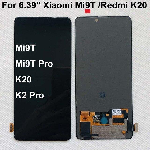 AAA الأصلي Amoled ل 6.39 شاومي Redmi K20 LCD عرض تعمل باللمس محول الأرقام الجمعية ل شاومي Mi 9t ل Redmi K20 برو