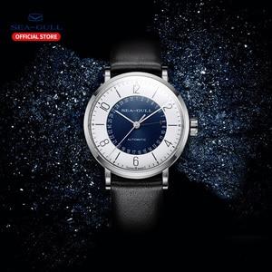 Image 4 - Seagull Men and Women Watch Fashion Personality Mechanical Watch Calendar Waterproof Leather Couple Watch 819.97.6052