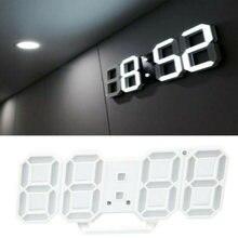 3d современный цифровой светодиодный настенные часы 24/12 часовой