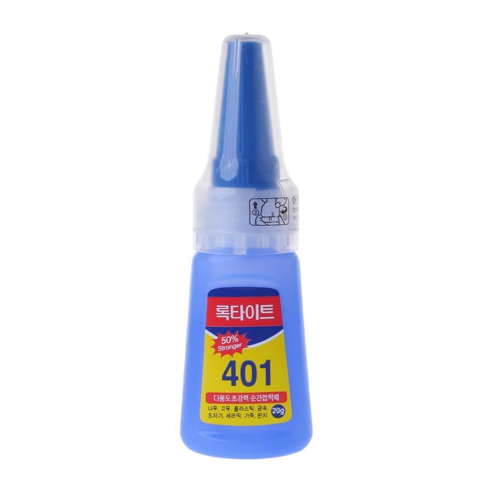 401 быстрая фиксация мгновенная быстрая адгезия. 20 г бутылка сильный супер клей многоцелевой