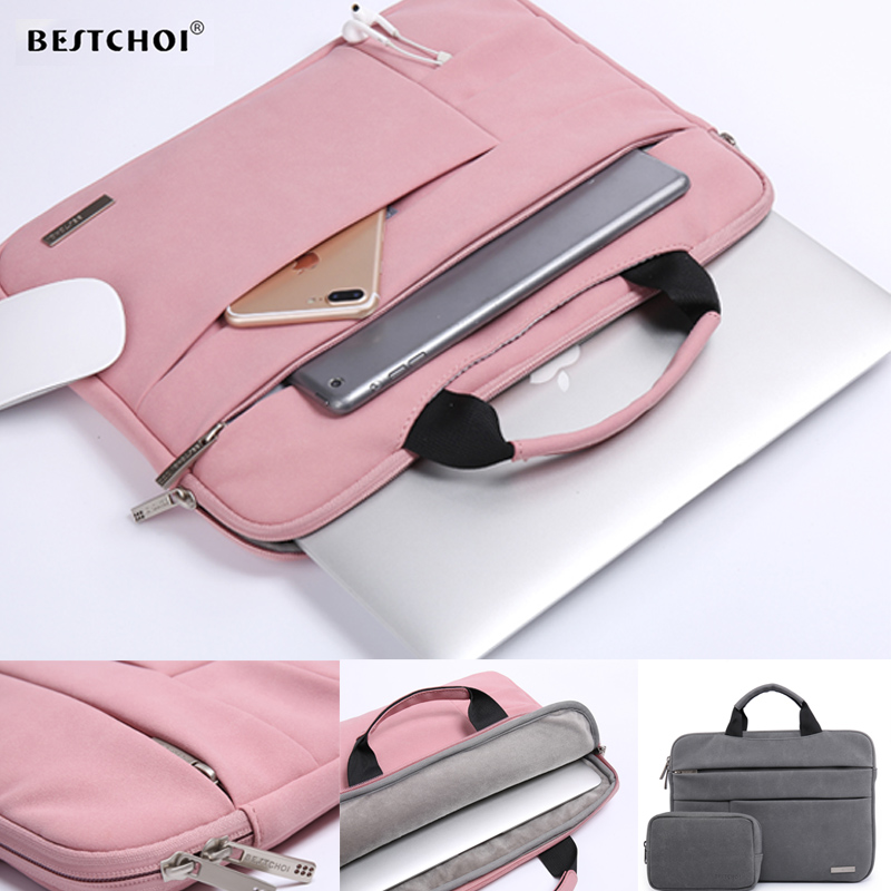 2018 Laptop Bag 12 13 14 15 15.6 Inch For Macbook Air 13 Case Matte Laptop Case Sleeve For Apple Mac Pro Air Multi-pockets