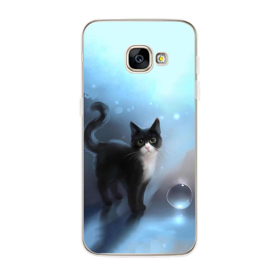ciciber Flower Cat Cover For Samsung Galaxy A8 A7 A5 A6 A9 A3 2018 2017 2016 A6S Plus Star Phone Case Soft TPU Shell Funda Coque