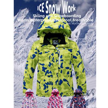 Dziecięcy kombinezon śniegowy nosić na zewnątrz wodoodporny kostium płaszcze zimowa odzież snowboardowa kurtka narciarska pasek spodnie dla chłopca i dziewczynki tanie i dobre opinie ARCTIC QUEEN Dobrze pasuje do rozmiaru wybierz swój normalny rozmiar CN (pochodzenie) Chłopcy ch9002 Drukuj wodoodporne