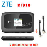Usato 4G Router zte Sbloccato MF910 MF90 Mobile Hotspot Wifi Pocket + 2pcs antenna slot per SIM card 2300mAh Batteria PK huawei E5573