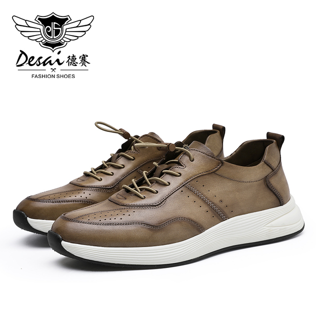 Desai Man Office Shoes Men Shoes color: Gray|Yellow
