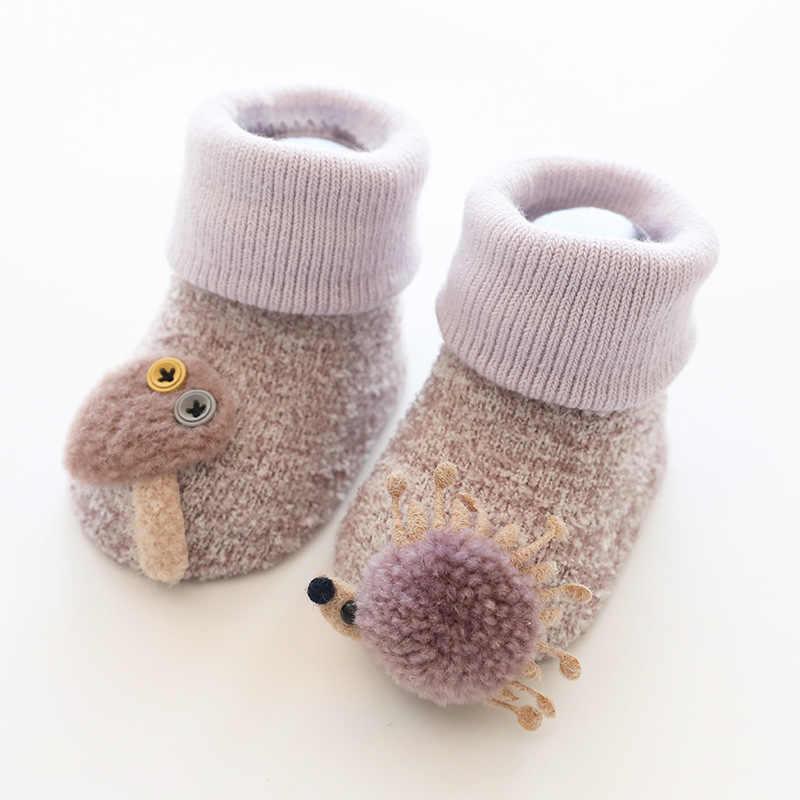 Thickening Coral Fleece Sock Anti-slip Slippers Baby Toddler Socks Floor Sox