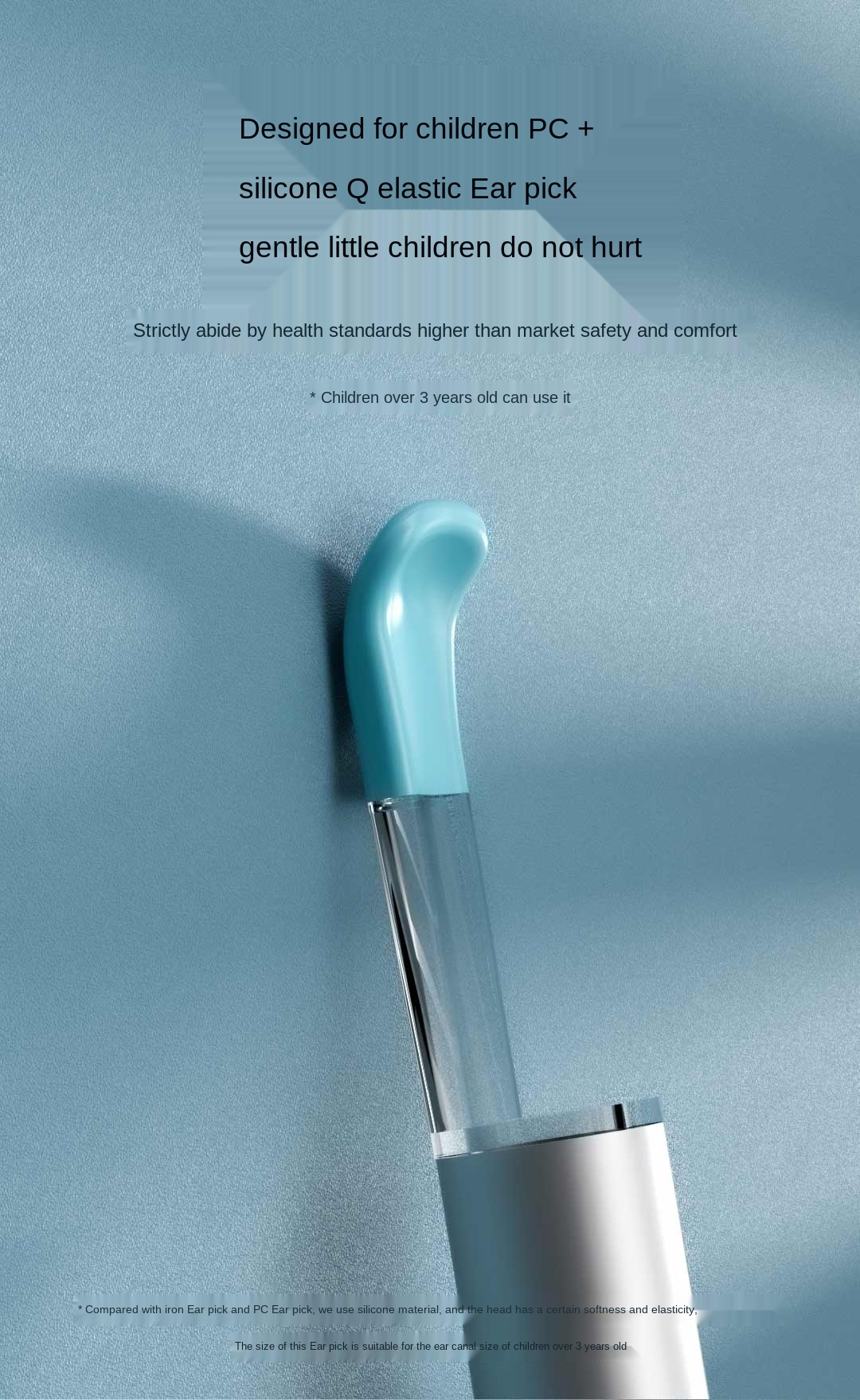 hd visual colher de ouvido na orelha ferramenta limpeza conjunto