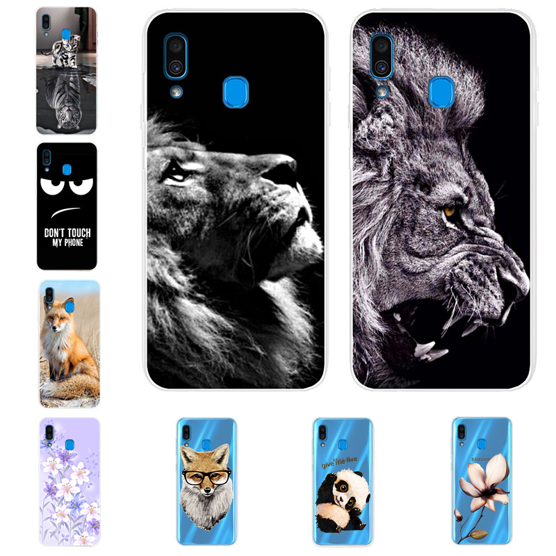 Silicone Cover For Samsung A30 Case Painted Animals Phone Cases For Samsung Galaxy A30 A20 A 30 Cover Clear Bumper Coque 2019