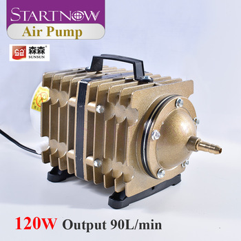 SUNSUN ACO-007 120W 90L/min Electromagnetic Air Pump With Check Valve Air Stone Water Pipe For Laser Machine Ash Remove Aerator