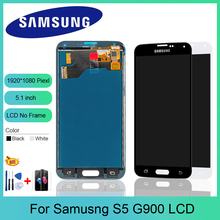 цена на TFT Display For Samsung Galaxy S5 I9600 G900 G900A G900F LCD Display Touch Screen Digitizer Assembly (not compatible G900H)