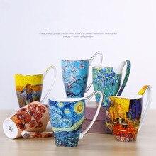 цена на Creative couple mug large capacity bone porcelain mug European style retro ceramic mug breakfast gift mug