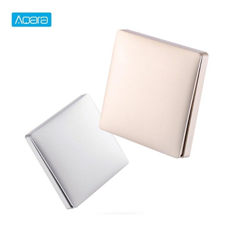 Nova chegada aqara duplo-chave de parede única ligação inteligente painel interruptor de controle de luz app controle remoto para casa inteligente