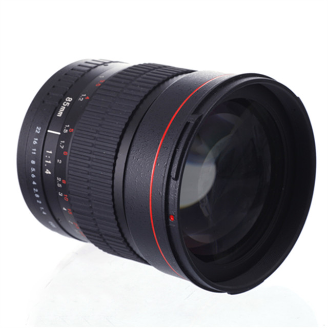 85 мм f1.4 портретный объектив для камеры Canon, объектив камеры с фиксированным фокусом