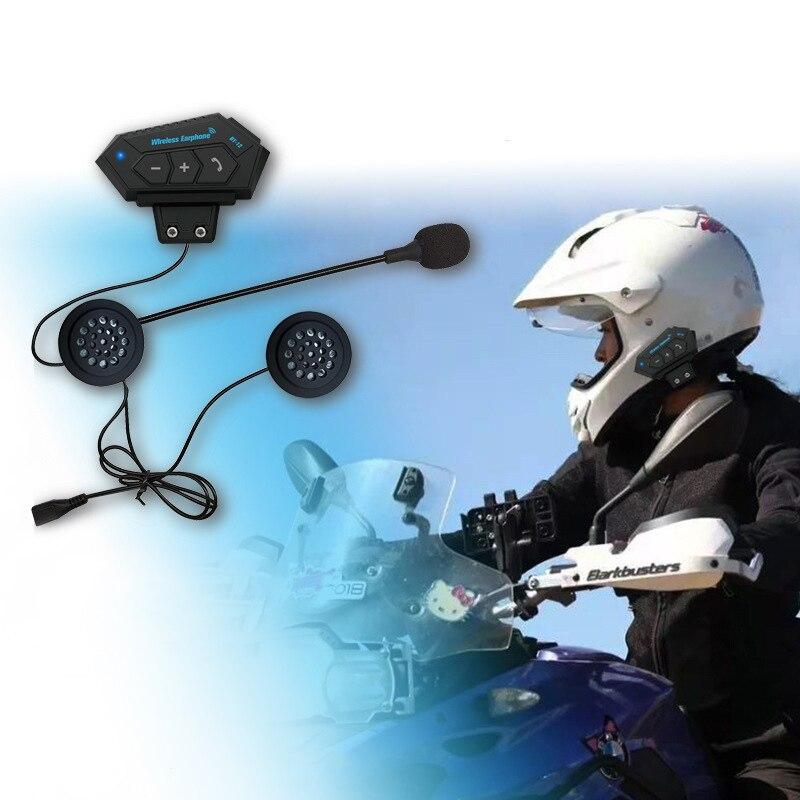 BT-12 Motorcycle Helmet Headset Speakers Hands-free Call Bleboothe 4.1 Headphones For Motor Bicycle Hot