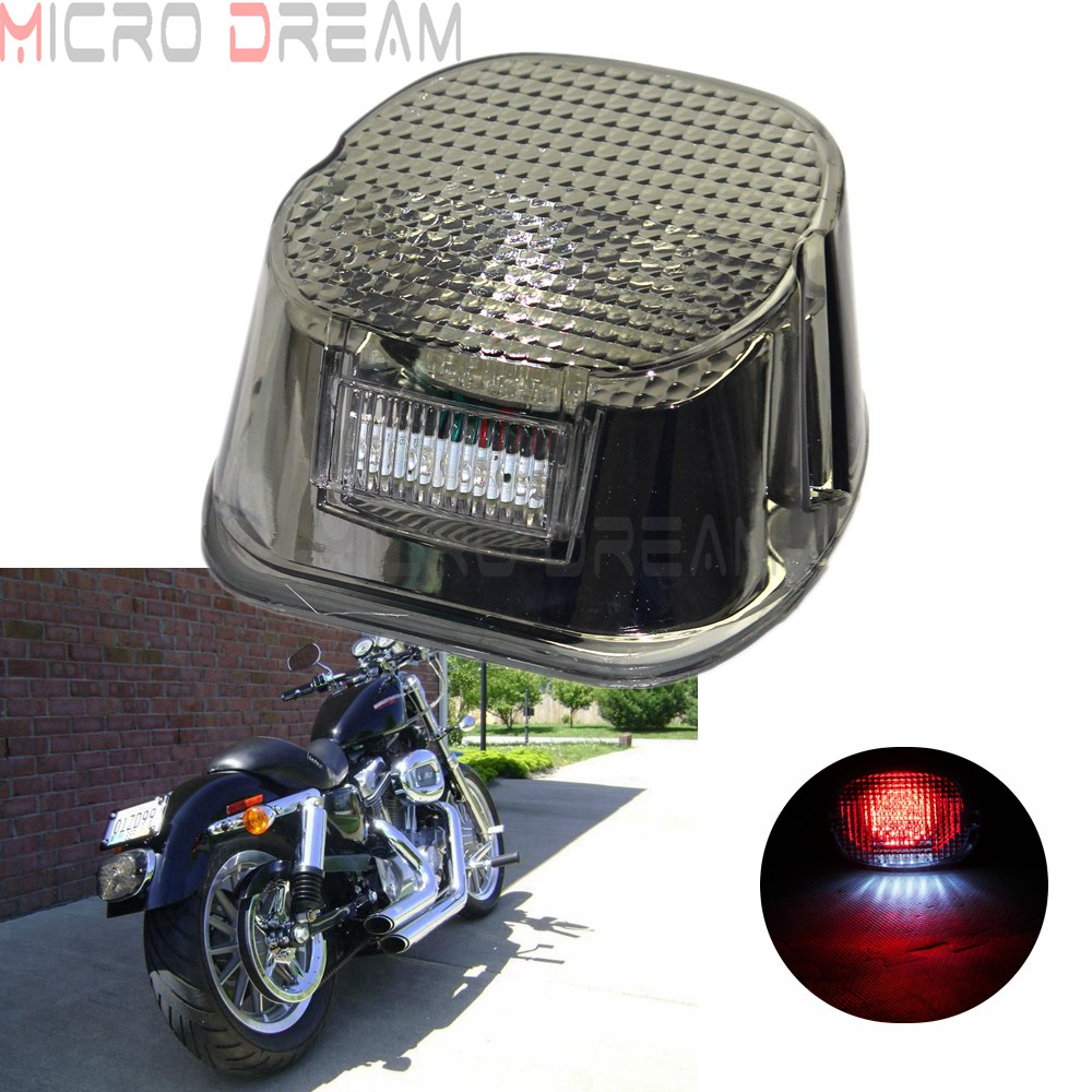 Motorcycle Clear LED Rear Tail Brake Stop Light For Harley Davidson Dyna Model