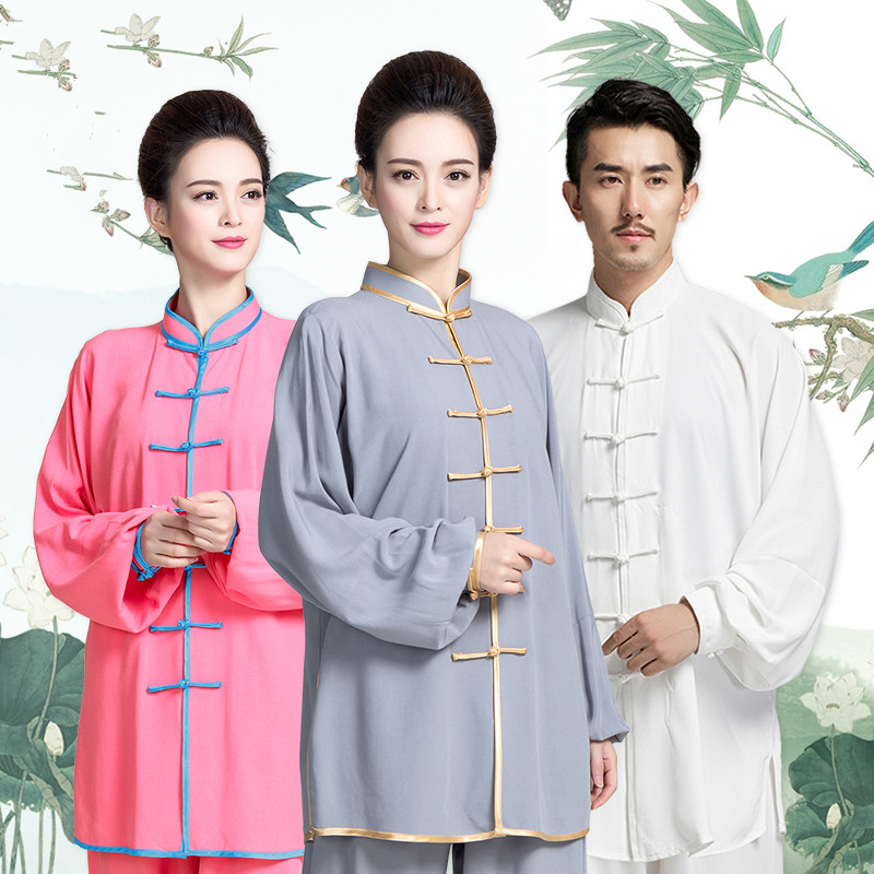 Cotton Tai Chi Uniform Men Adult Martial Arts Wing Chun Suit Women Traditional Wushu Clothing Chinese Kung Fu Exercise Outfit