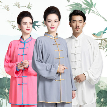 цена на Cotton Tai Chi Uniform Men Adult Martial Arts Wing Chun Suit Women Traditional Wushu Clothing Chinese Kung Fu Exercise Outfit