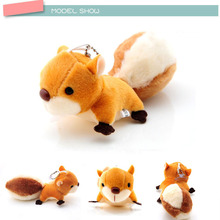 Cute Mini Squirrel Plush Toy Stuffed Doll Pendant Decorations Oversized Tail Ornament Keychain Toys For GirlFriend Gift