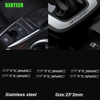 Stainless steel Car interior Sticker for kia stonic car accessories
