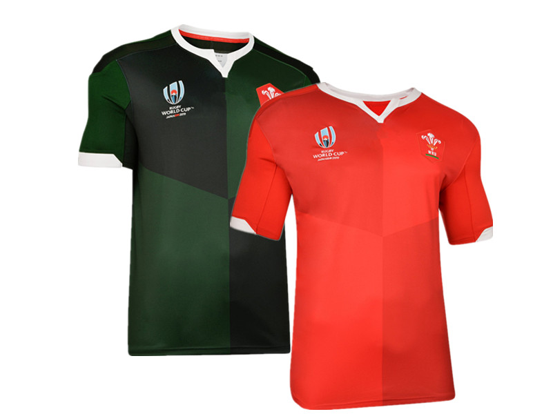 2019 WALES RWC RUGBY HOME AND AWAY  JERSEY  Size S-5XL Top Quality  Free Shipping