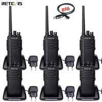 DMR Radio 6 pièces rechape RT81 haute puissance talkie-walkie numérique étanche IP67 UHF VOX Radio bidirectionnelle Amador jambon Radio émetteur-récepteur