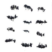 30 шт модель черно белая корова животное игрушка диорама пейзаж