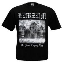 T-shirt 1BURZUM1 Det Som Engang Var New different size. Norwegian music project. free shipping cheap tee Fashion Style Men Tee(China)