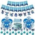 Disney лоли стежка вечерние комплект поставки баннер шар Топпер для торта на день рождения украшения для душа детский праздник поставки однор...