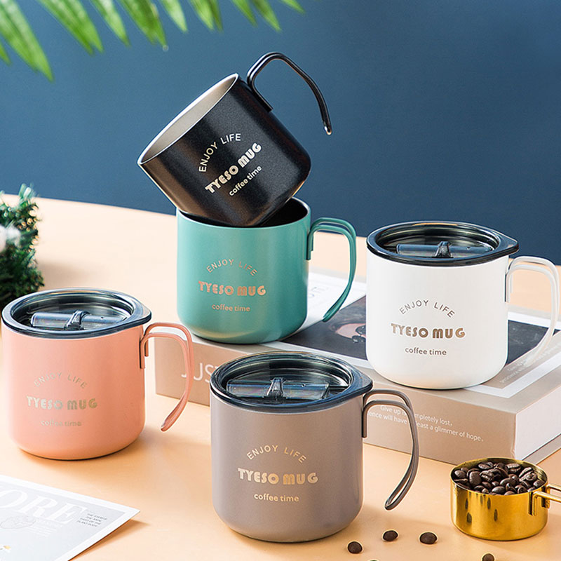 Originality Coffee Cup 304 Stainless Steel Vacuum Cup Thermos Cup Travel Outdoor Mountaineering Cup Cappuccino Latte Coffee Mug