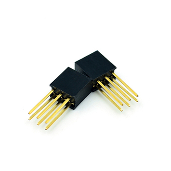 Extended female row 2*3pin 2.54MM pitch pin length 11mm double row long pin female seat environmental protection image