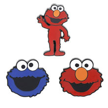 Sesame Street Brooch Elmo Pins Big Bird Brooch Cookie Monster Lapel Pins for Kids Clothing DIY Stickers Kids T-shirt Cute Badge(China)