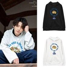 Celebrity Style Jung Kook Hoodies Sweatshirts Men Women Pull