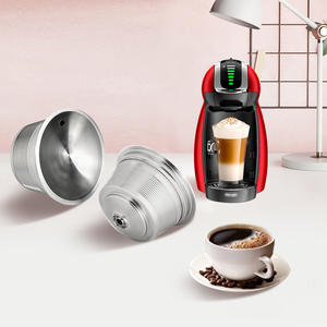 Coffee-Maker Capsules KRUPS-FILTER Nescafe Dolce Refillable Stainless-Steel Metal