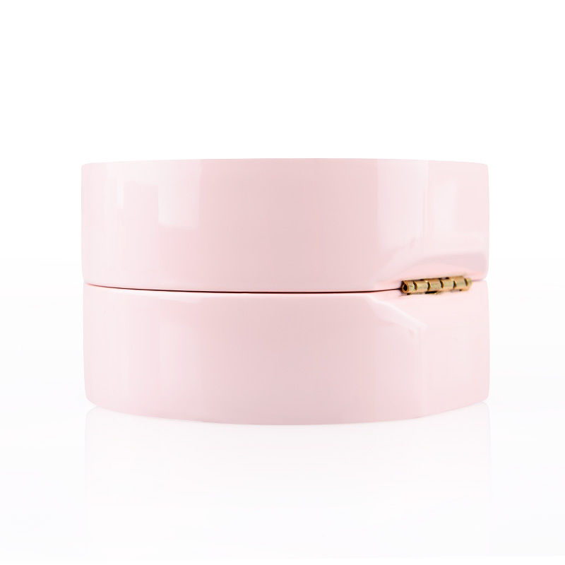 Oirlv Romantic Pink Lacquer Jewelry Packaging Box with Velvet Insert Wedding Engagement Ring Necklace Jewelry Gift Box Organizer