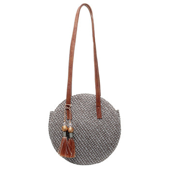 Summer Women Bags Ladies Large Handbag Handwoven Straw Bag Round Popularity Straw Women Shoulder Bag Beach Travel Bags Tote 2019 1