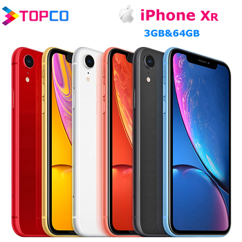 "iPhone XR Factory Dual SIM/Single SIM Unlocked Original Mobile Phone 4G LTE 6.1"" Hexa-core 12MP&7MP RAM 3GB ROM 64GB 1"
