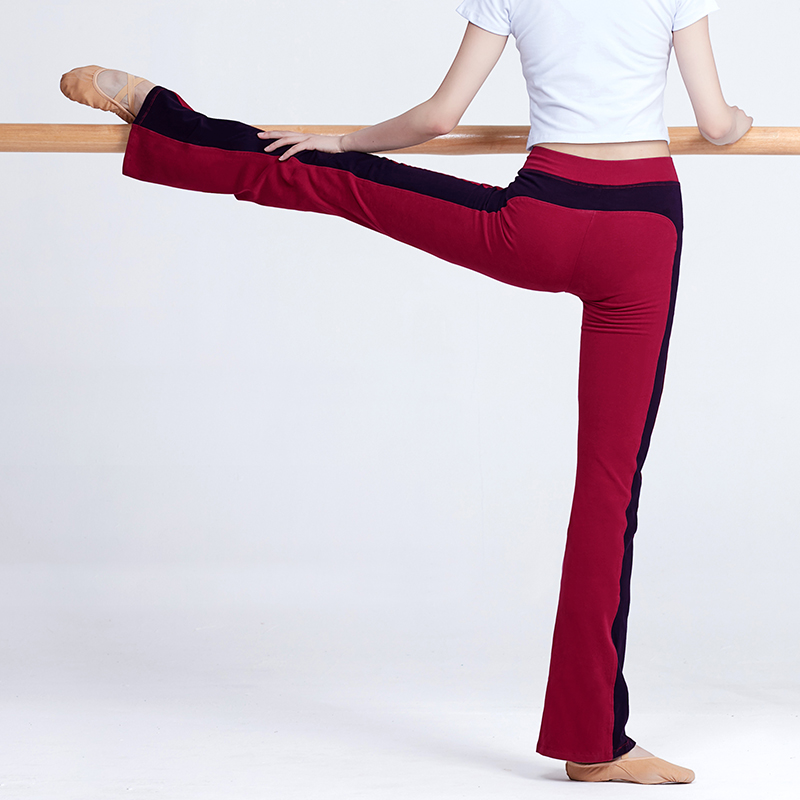 Flare Pants Ballroom Ballet Dance Pants For Women Gymnastics Yoga Fitness Long Trousers Cotton,Bell Bottoms