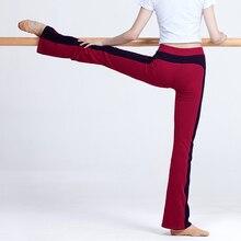 Spodnie Flare Ballroom taniec baletowy spodnie dla kobiet gimnastyka joga Fitness długie spodnie bawełniane, spodnie Bell